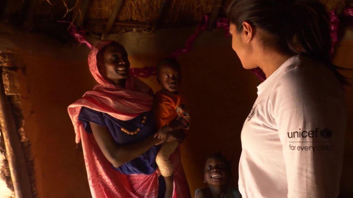 Ethiopia: Priyanka Chopra visits refugee children in rural Ethiopia