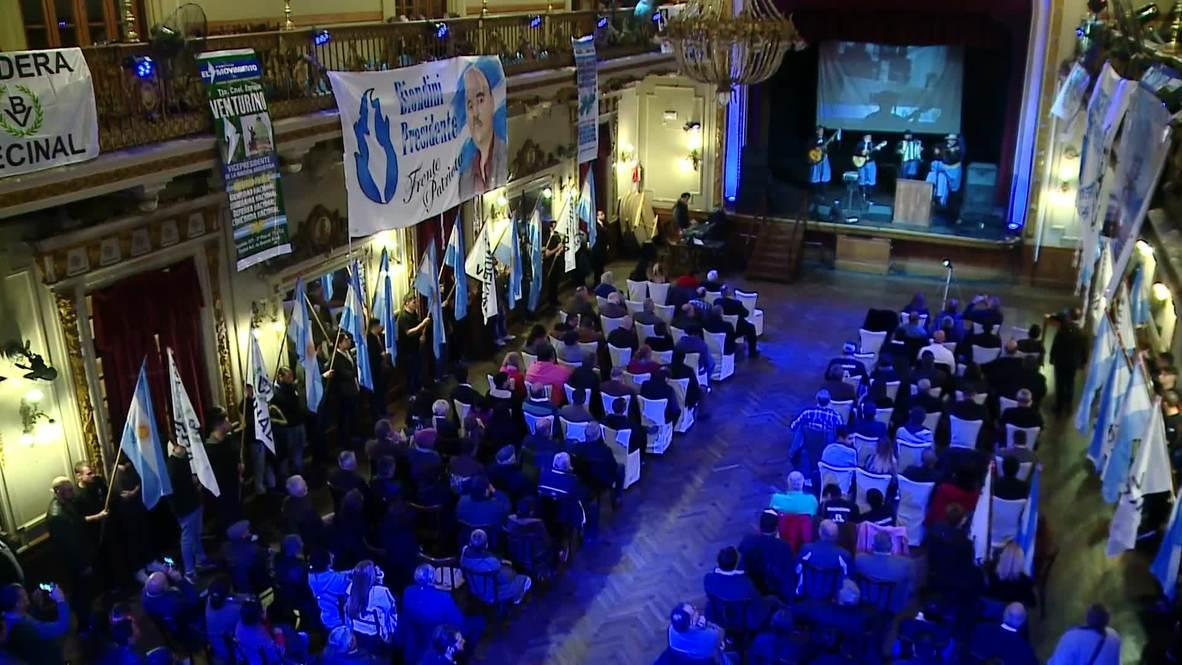 Argentina: Manifestantes rompen ventanas en la presentación de la candidatura presidencial de Biondini, líder de extrema derecha