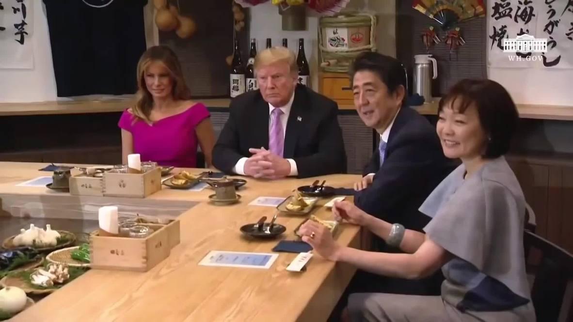 Japan: Trump had 'very productive day' ahead of meeting new emperor