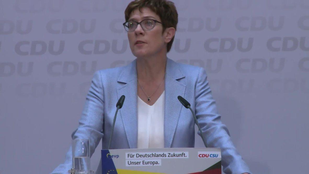 Alemania: La CDU celebra el primer lugar proyectado en las elecciones alemanas de la UE