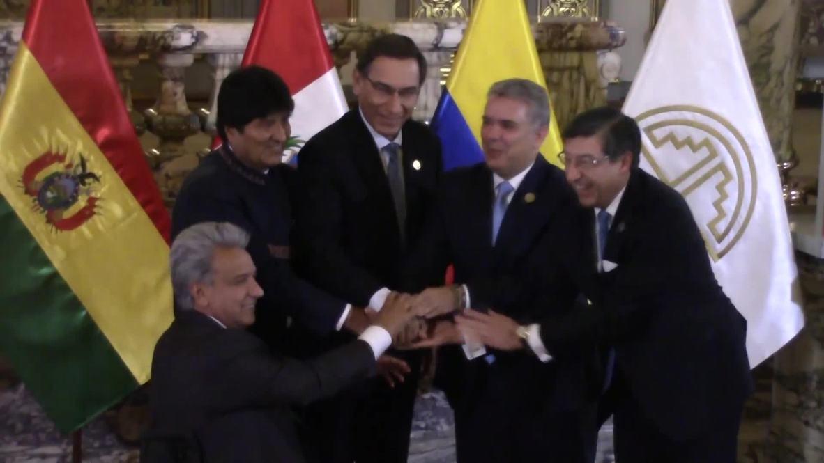 Perú: Bolivia, Colombia, Ecuador y Perú celebran 50 años de la Comunidad Andina