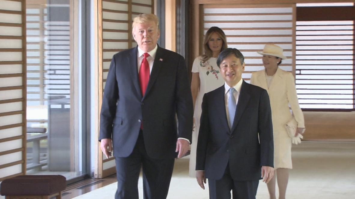 Japón: Trump se reúne con el nuevo emperador japonés Naruhito