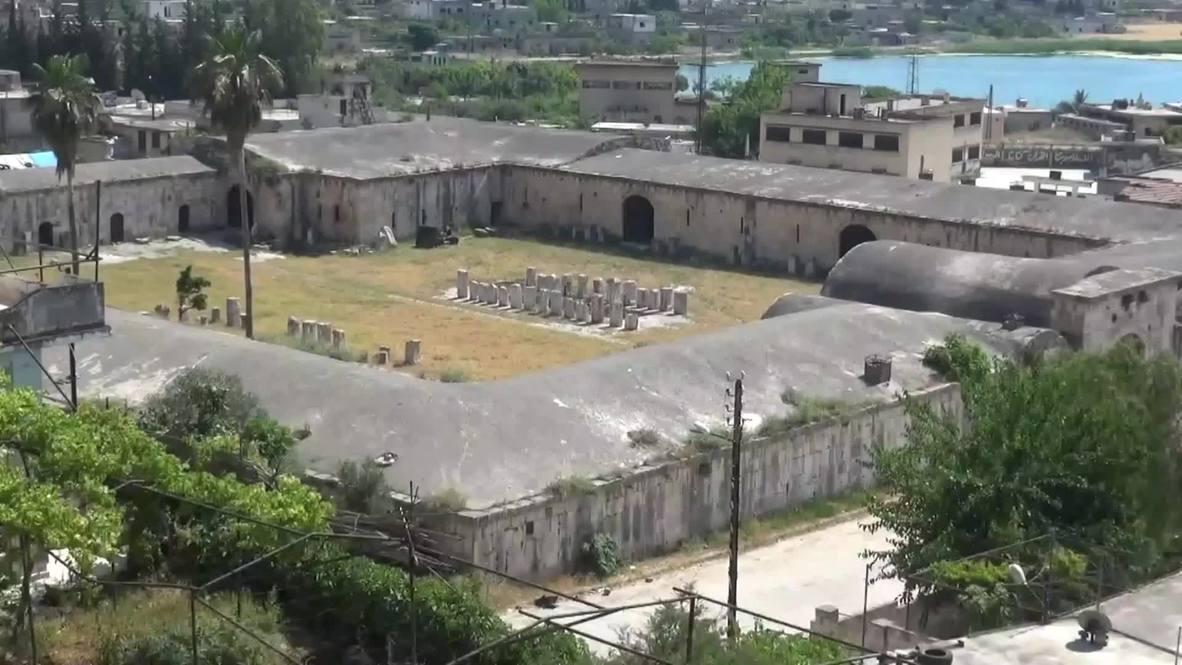 Syria: Footage shows war-wrecked Apamea Museum following SAA's recapture