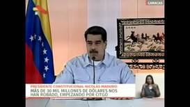 Venezuela: Maduro says 'sabotage' prevented food & gasoline supply ships from arriving