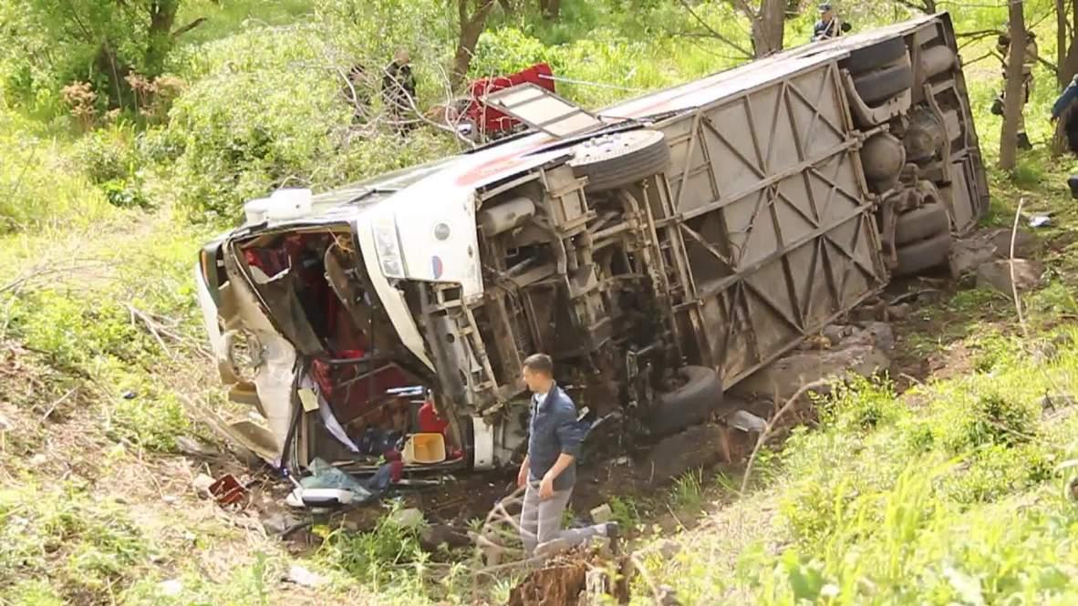 Russia: Two dead, 19 injured in Ussuriysk bus crash