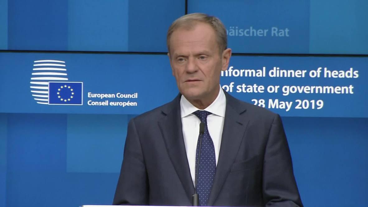 """Bélgica: Tusk quiere a """"al menos dos mujeres"""" en los principales puestos de la UE"""