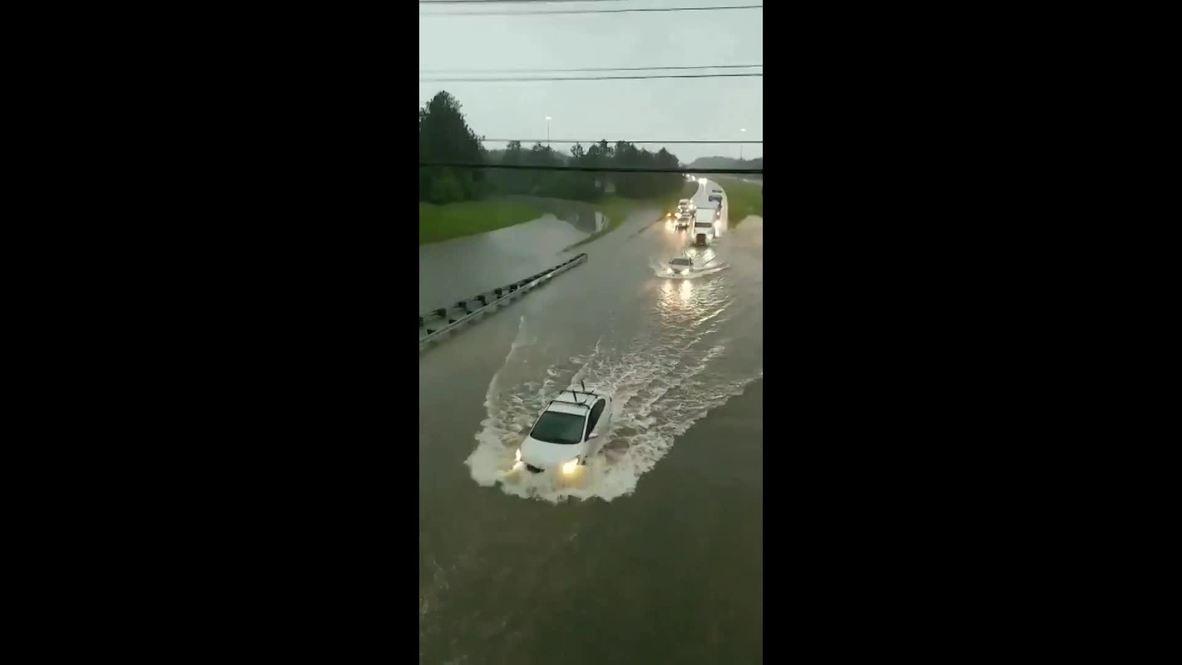 EE.UU.: Fuertes lluvias en el norte de Ohio convierten las carreteras en ríos