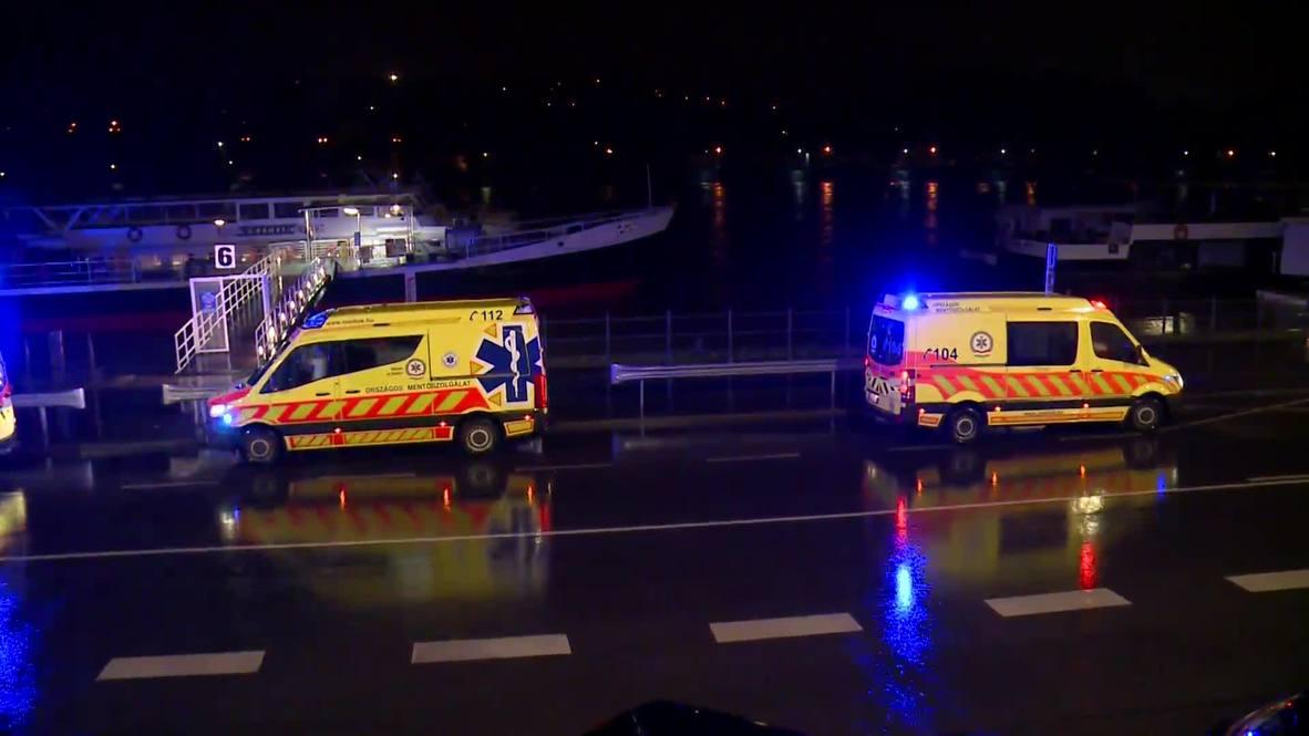 Hungría: Naufragio en el Danubio deja 7 muertos, 19 desaparecidos