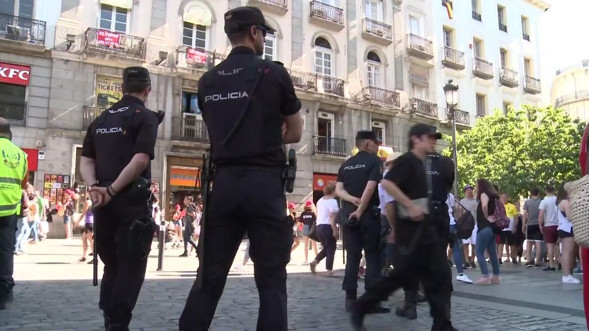 Spain: British football fans flood Madrid ahead of CL final amid tight security