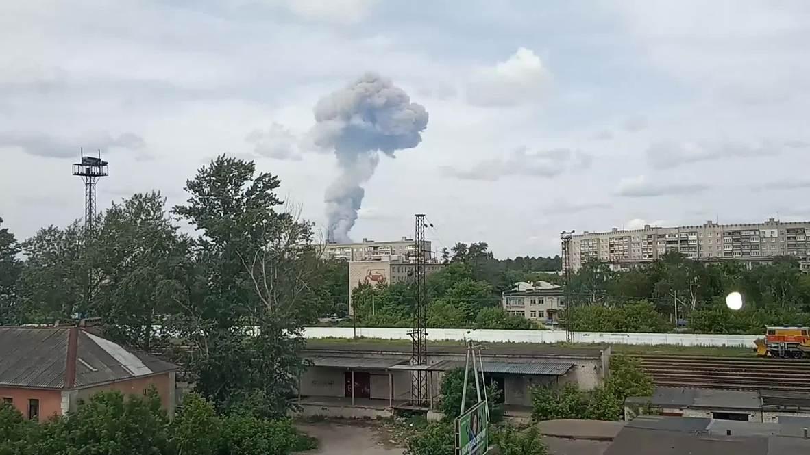 Russia: 38 injured as blasts hit TNT plant in Dzerzhinsk