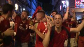 """Испания: Фанаты """"Ливерпуля"""" заполнили собой весь Мадрид после победы в Лиге Чемпионов"""