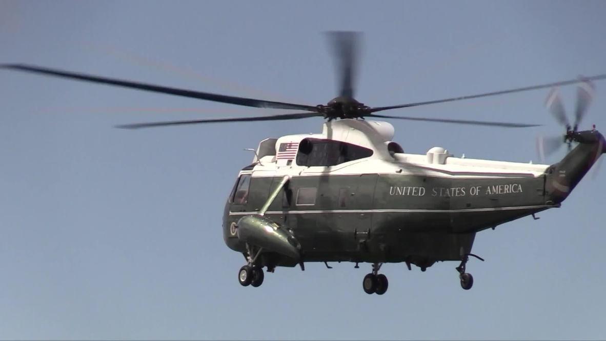 Reino Unido: El helicóptero de Trump aterriza en el Palacio de Buckingham durante su visita