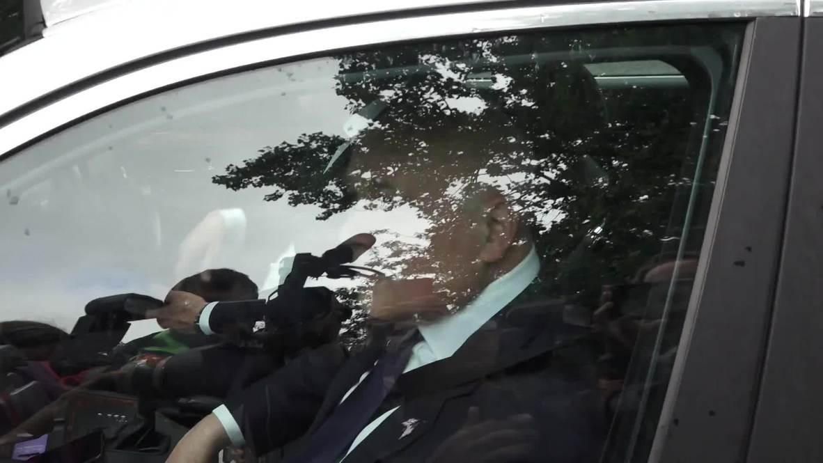 UK: Brexiteers arrive for Trump meeting at US Ambassador's residence