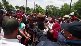 México: Migrantes centroamericanos son interceptados en la frontera sur de México