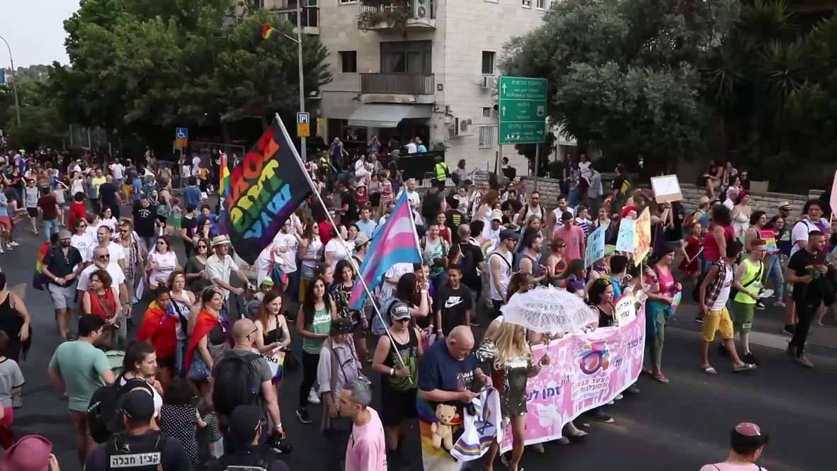 Israel: Miles participan en el desfile del orgullo gay de Jerusalén
