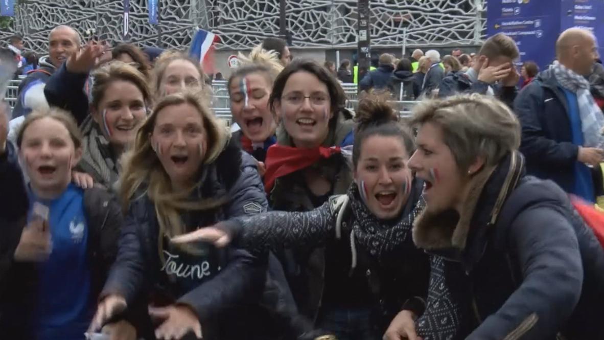 Francia: Hinchas disfrutan antes del inicio del la Copa Mundial de Fútbol femenino
