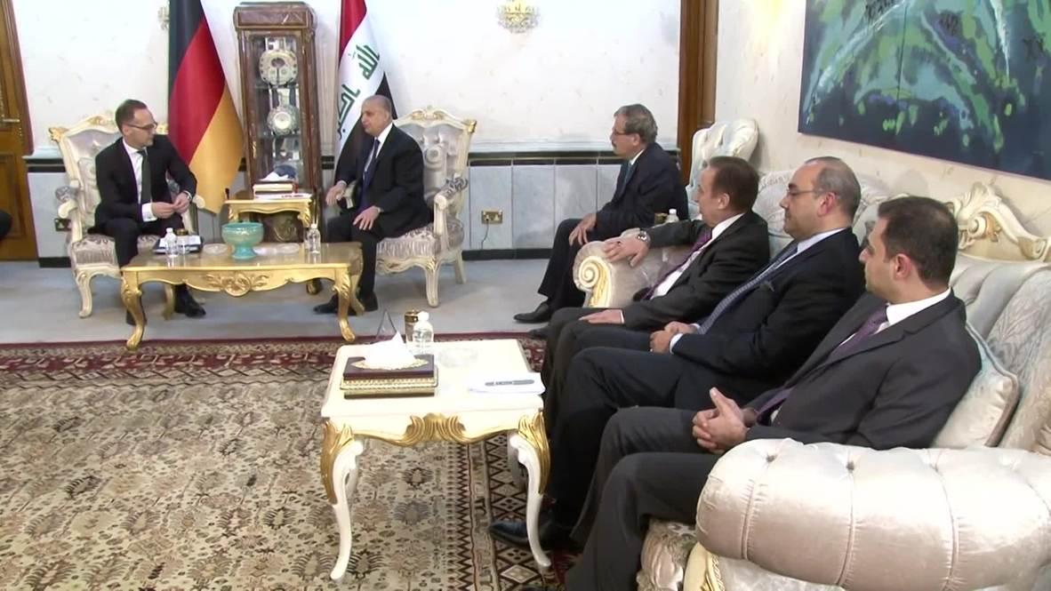 Irak: Ministro relaciones Exteriores de Alemania se reúne con su homólogo irakí