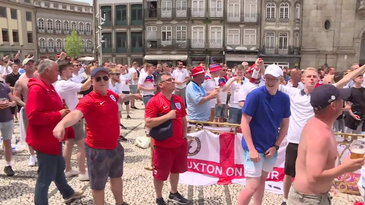 Portugal: Hinchas ingleses se toman Guimaraes esperando partido ante Suiza