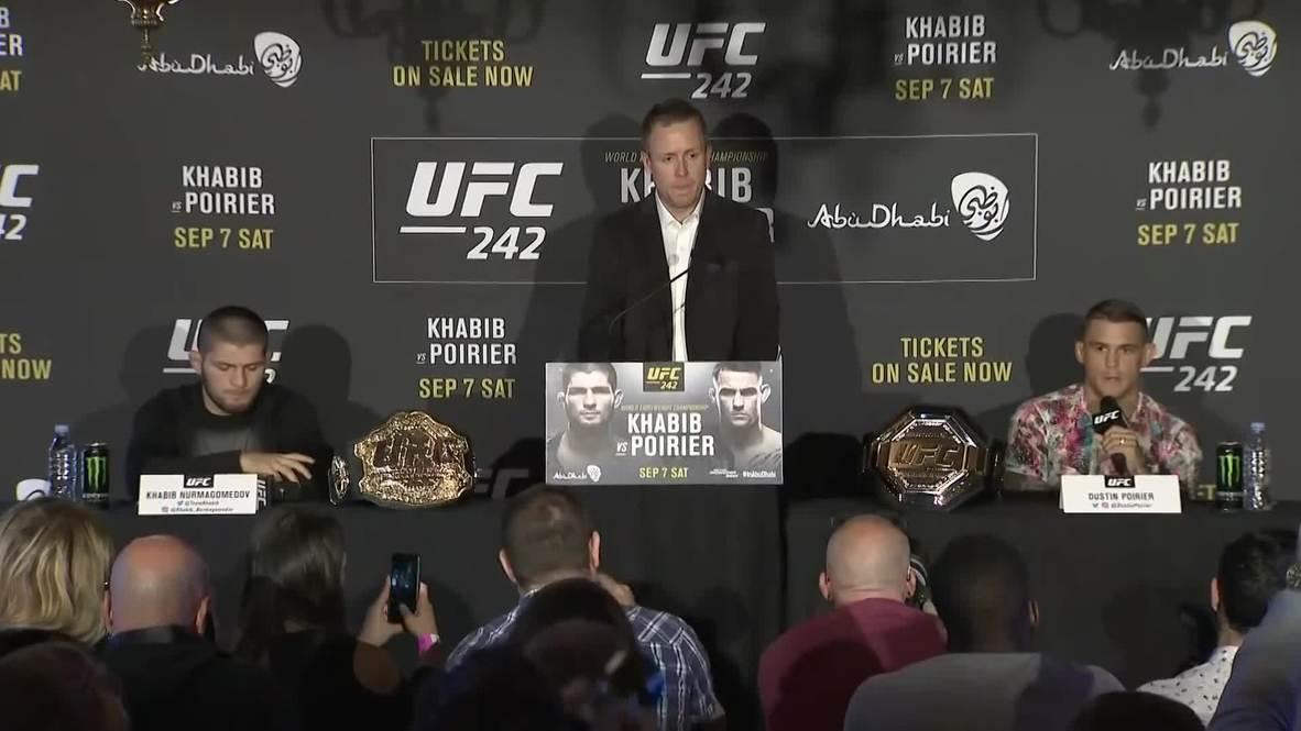 UK: Nurmagomedov and Poirier talk UFC 242 in London press conference