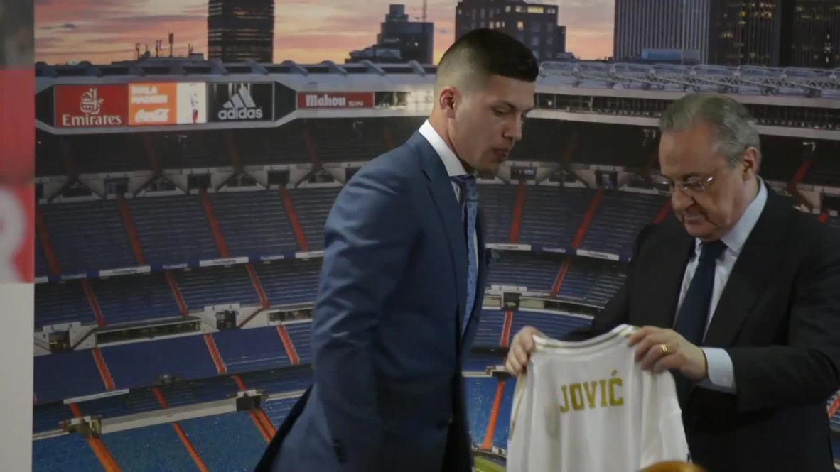 España: Real Madrid presenta a prometedor delantero serbio como refuerzo