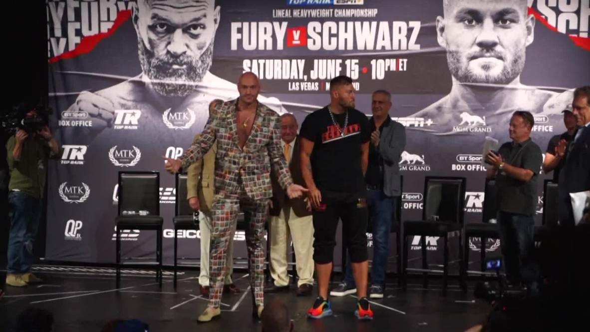 EE. UU.: Fury y Schwarz cara a cara antes de su combate en Las Vegas
