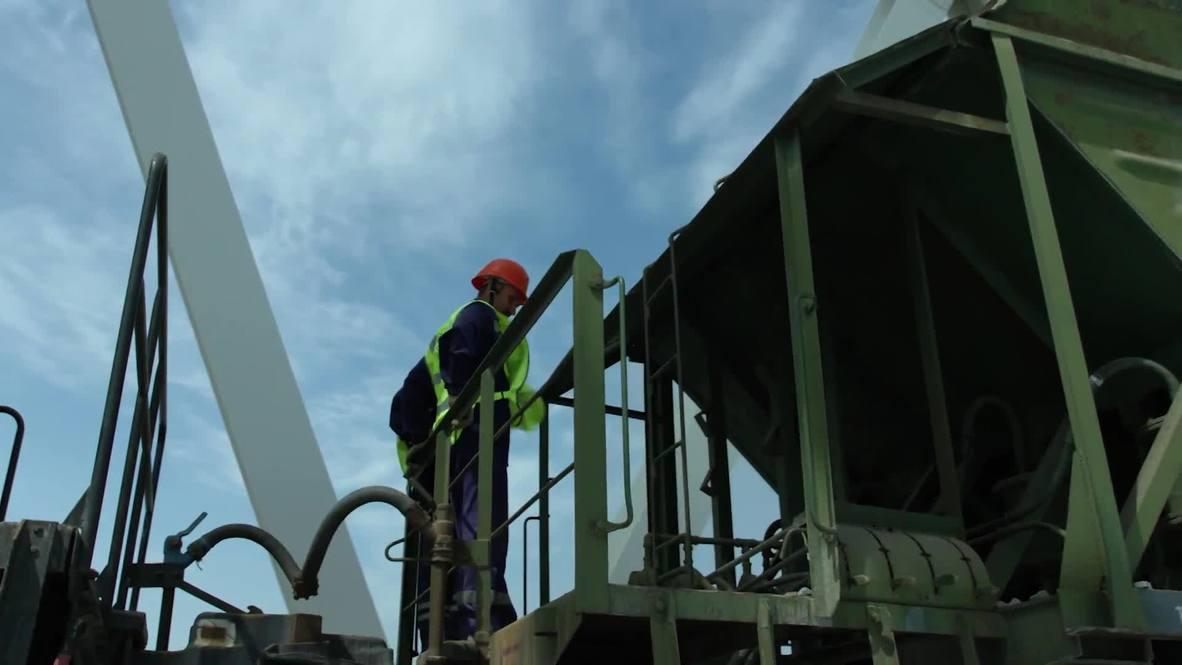 Россия: Берега соединились. 1-ый железнодорожный путь Крымского моста состыковали над Керченским проливом