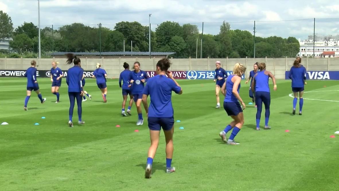 Francia: Leyenda de EE.UU. se alista para juego ante Chile en la Copa Mundial Femenina