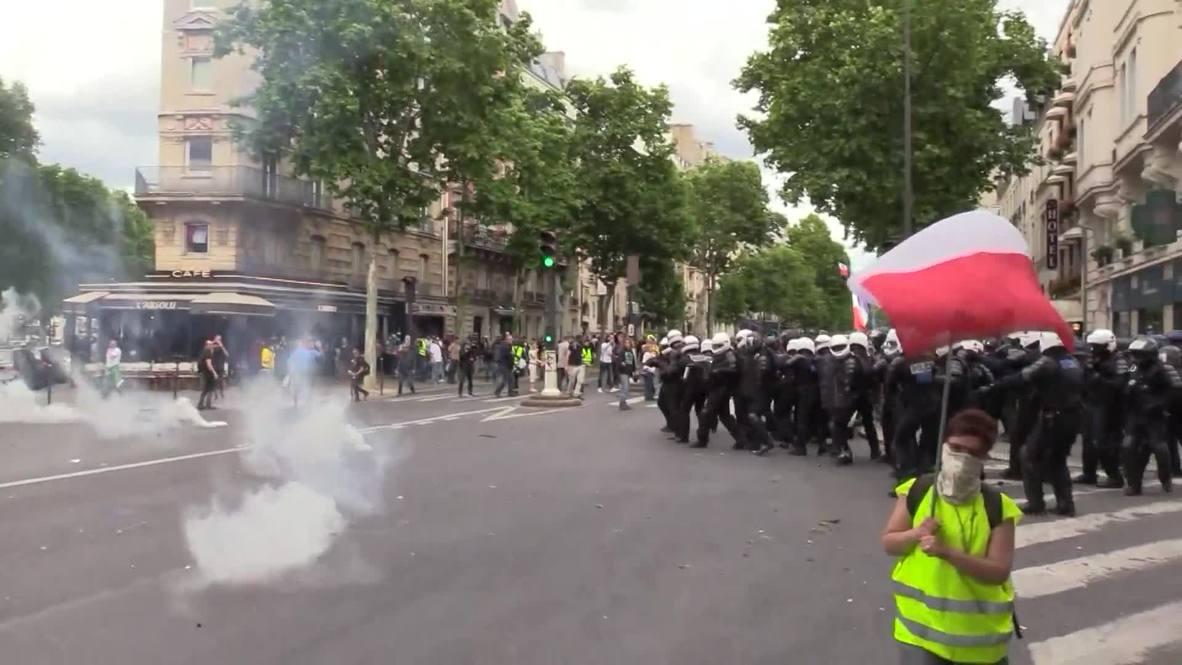 Francia: Policía usa gas lacrimógeno durante la 31 semana de protestas de los 'chalecos amarillos'
