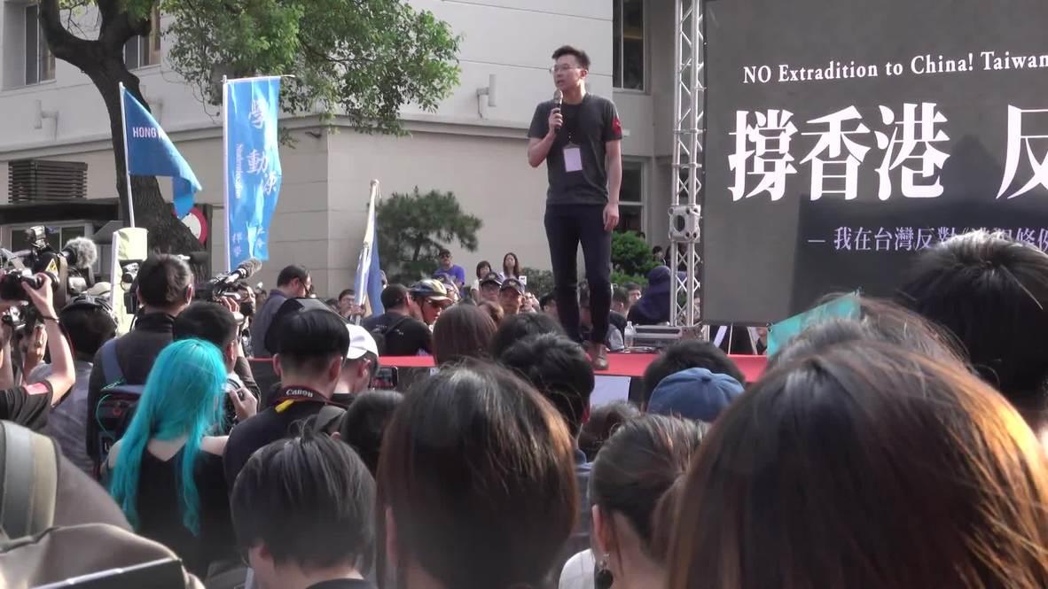 Taiwan: Taiwanese rally in solidarity with Hong Kong anti-extradition protests