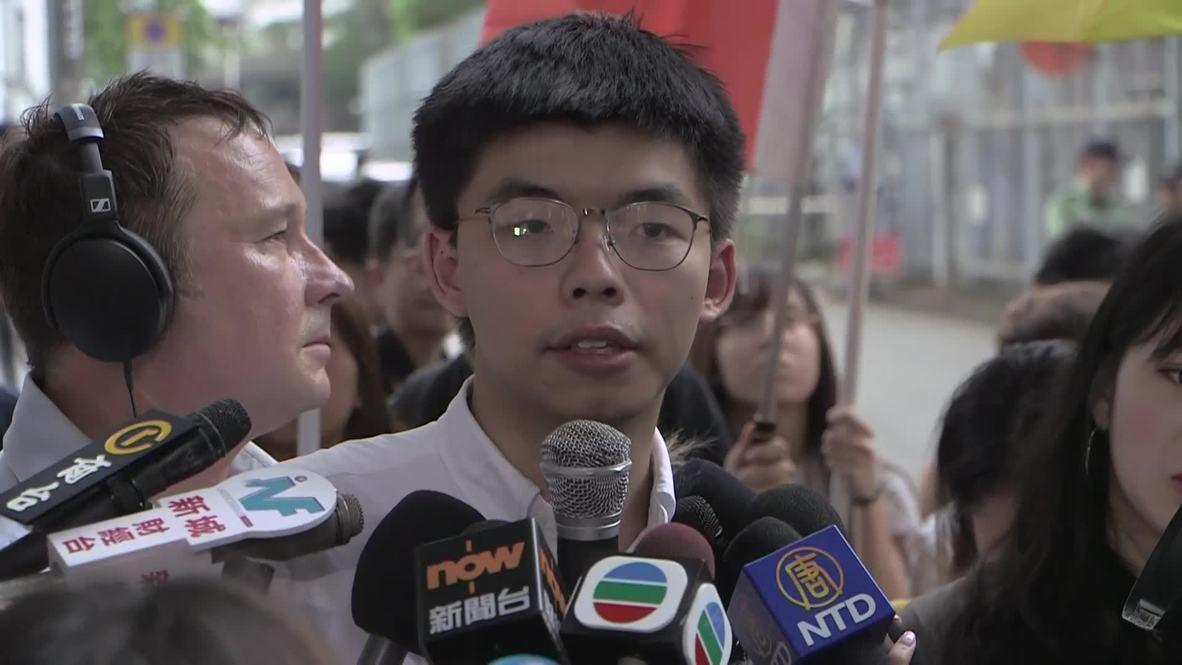 Hong Kong: Liberan al activista Joshua Wong, líder de la 'Revolución de los paraguas'
