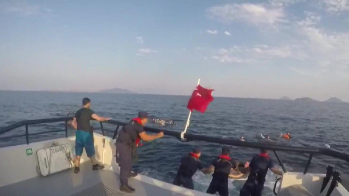 Turkey: At least 12 killed as migrant boat sinks off Turkey's coast