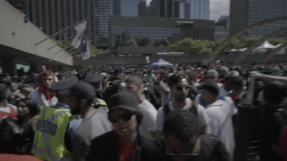 Canada: Chaotic scenes as police respond to gunfire at Toronto Raptors parade