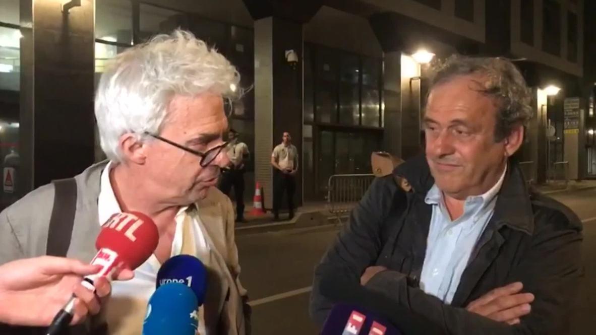 Francia: 'Mucho ruido para nada' - Platini liberado tras ser interrogado sobre el Mundial de Catar