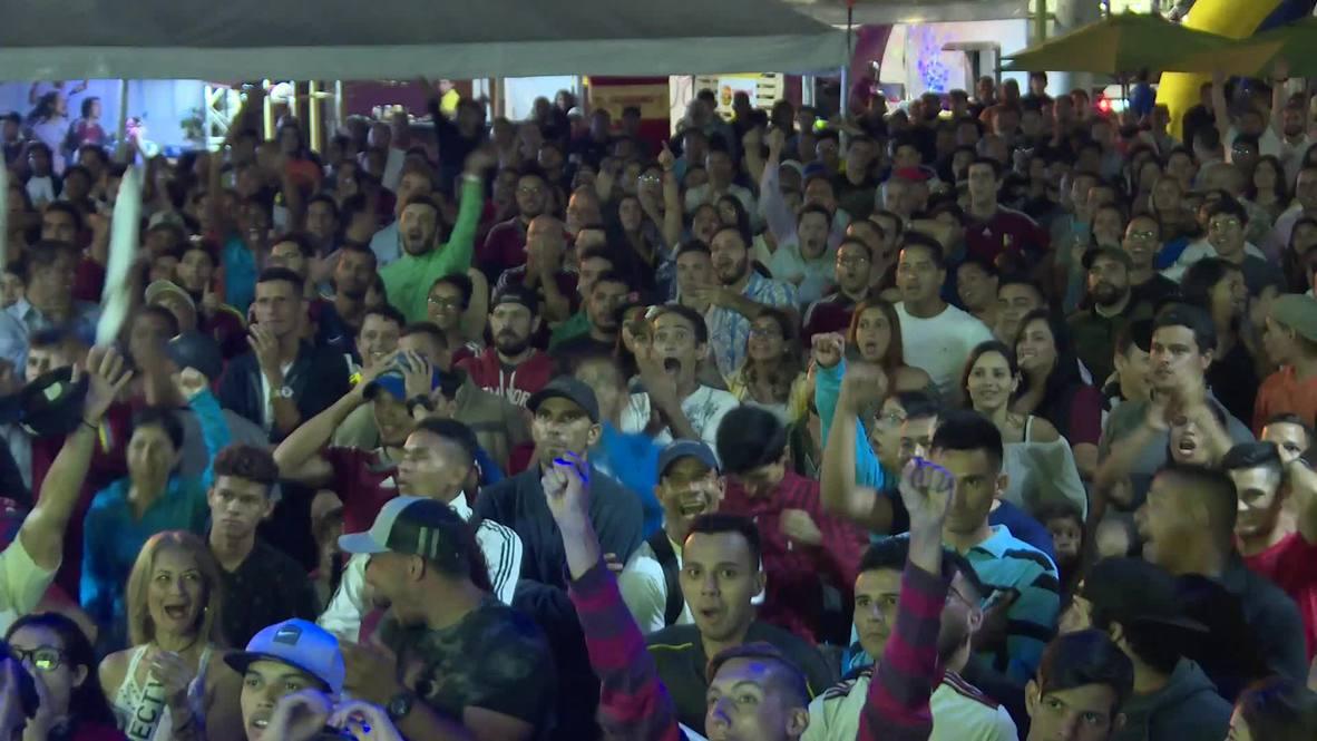 Venezuela: Caracas se vuelve loca mientras la Vinotinto empata con Brasil