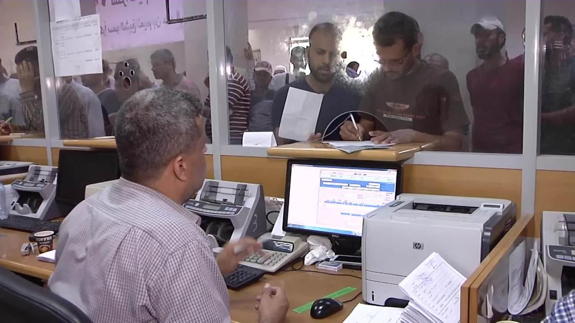 Palestina: Familias necesitadas de Gaza reciben 100 dólares de Qatar
