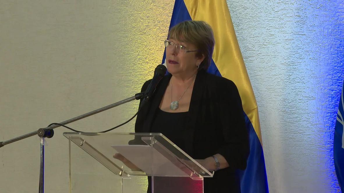 """Venezuela: """"La situación humanitaria se ha deteriorado de forma extraordinaria"""" - Bachelet"""