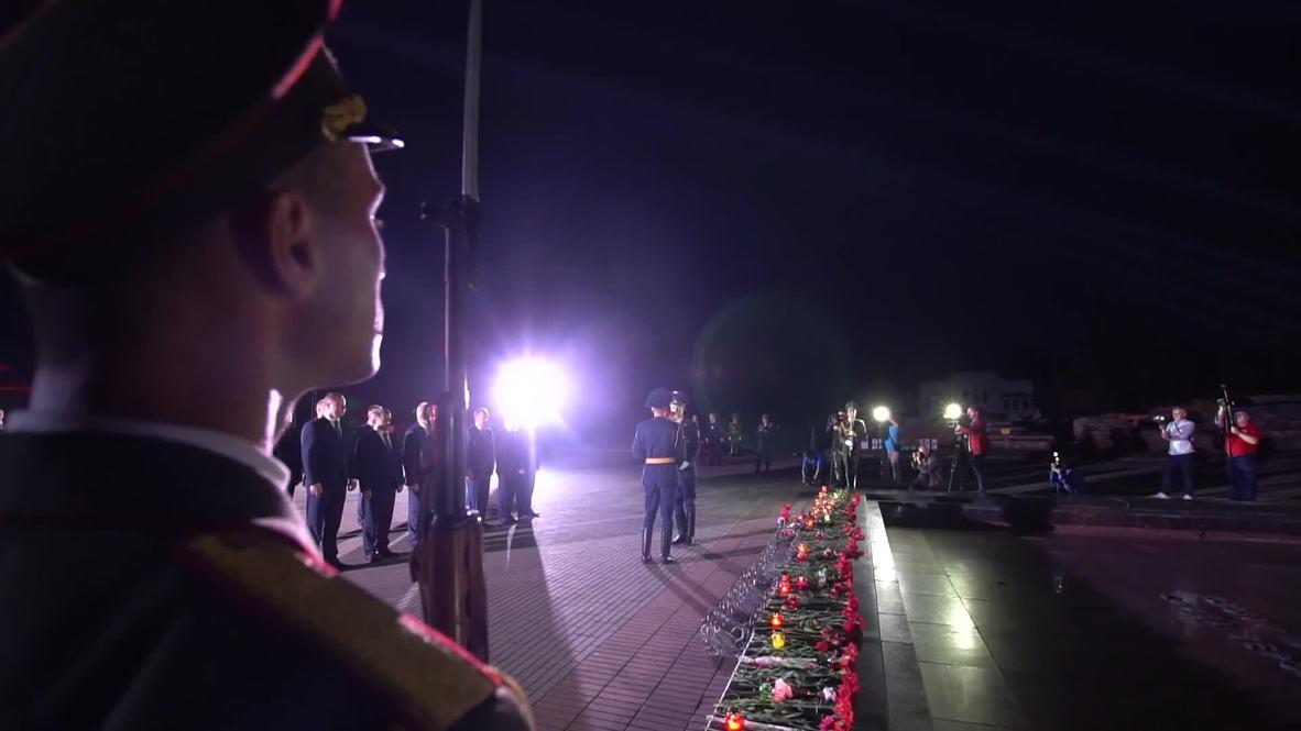 Белоруссия: Реконструкция нападения нацистов на Советский Союз у стен Брестской Крепости