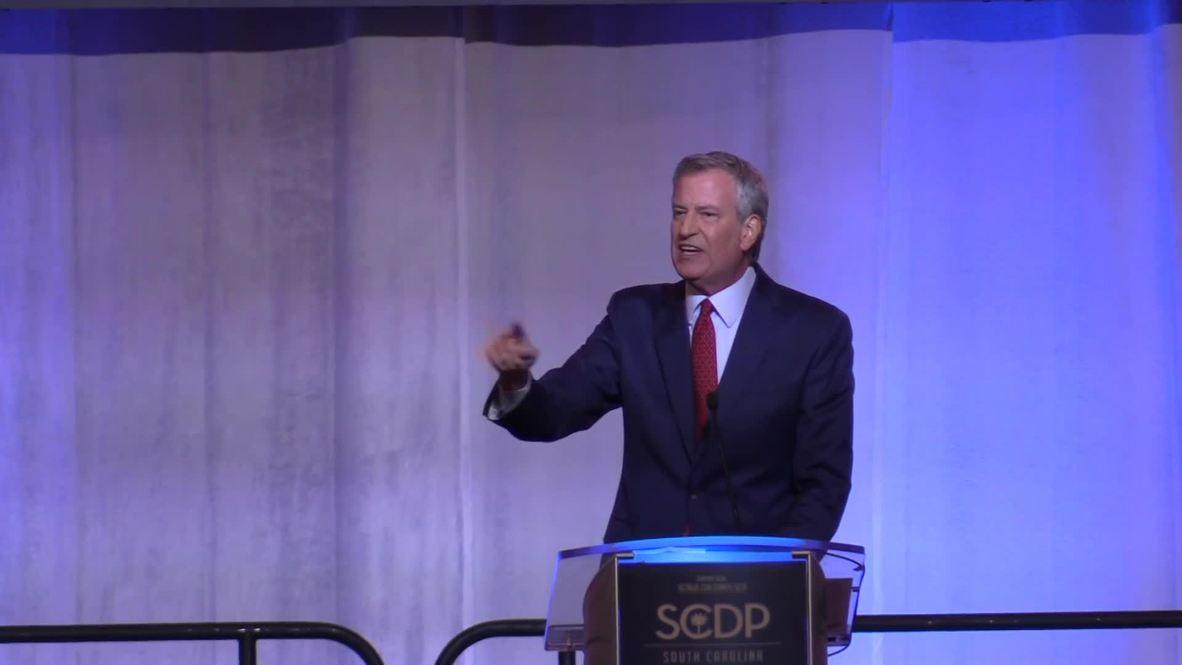 USA: Beto, De Blasio, Booker woo voters at Carolina Democrat Convention