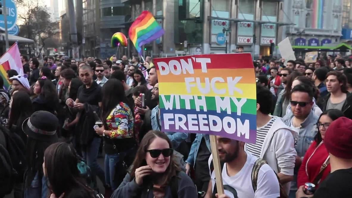 Chile: Miles tiñen de arcoíris las calles de Santiago en la Marcha del Orgullo Gay