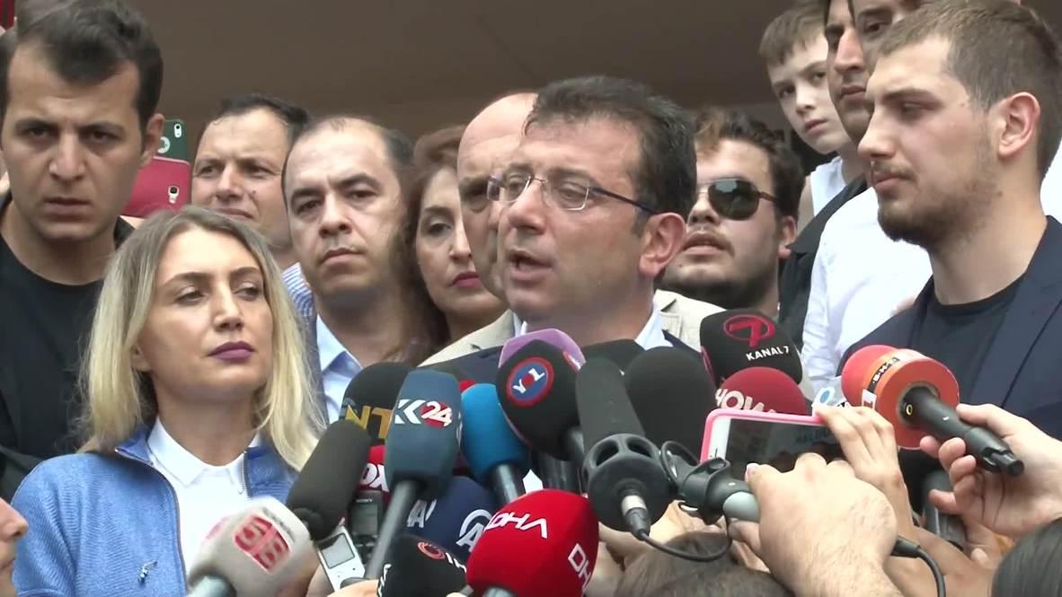 Turkey: Crowds flock as Istanbul mayoral candidate Imamoglu casts vote