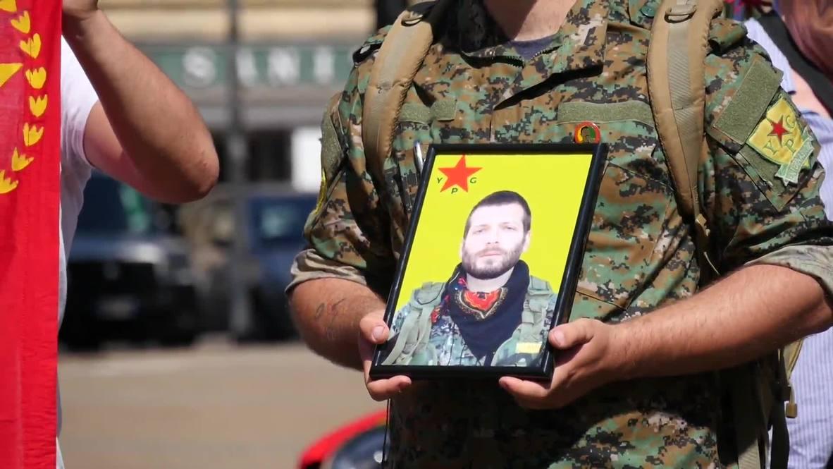 Italy: Florence crowds bid farewell to fallen YPG fighter Lorenzo Orsetti