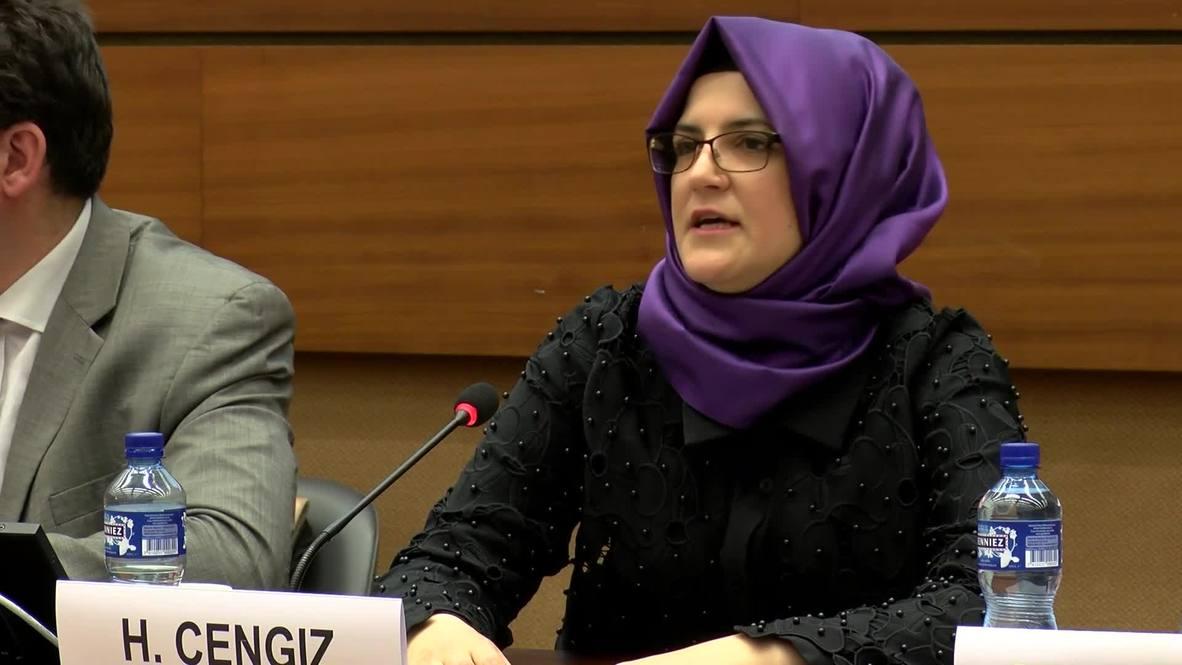 Switzerland: Khashoggi's fiancee calls for action following UN report