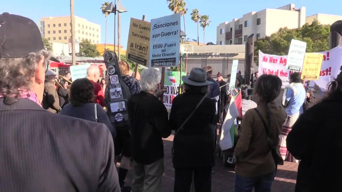 EE.UU.: Manifestantes protestan en San Francisco contra una potencial guerra contra Irán