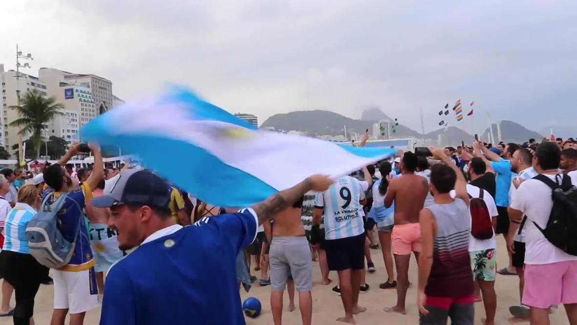 Brazil: Argentina fans pumped for Copa America clash against Venezuela