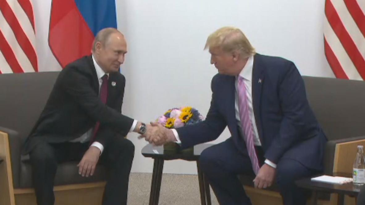 Япония: Путин и Трамп встретились на саммите G20 в Осаке