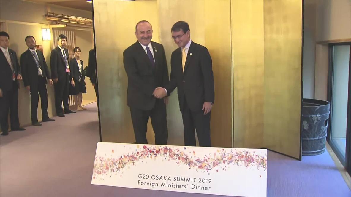 Japón: Los ministros de Exteriores del G20 acuden a una cena formal durante la cumbre