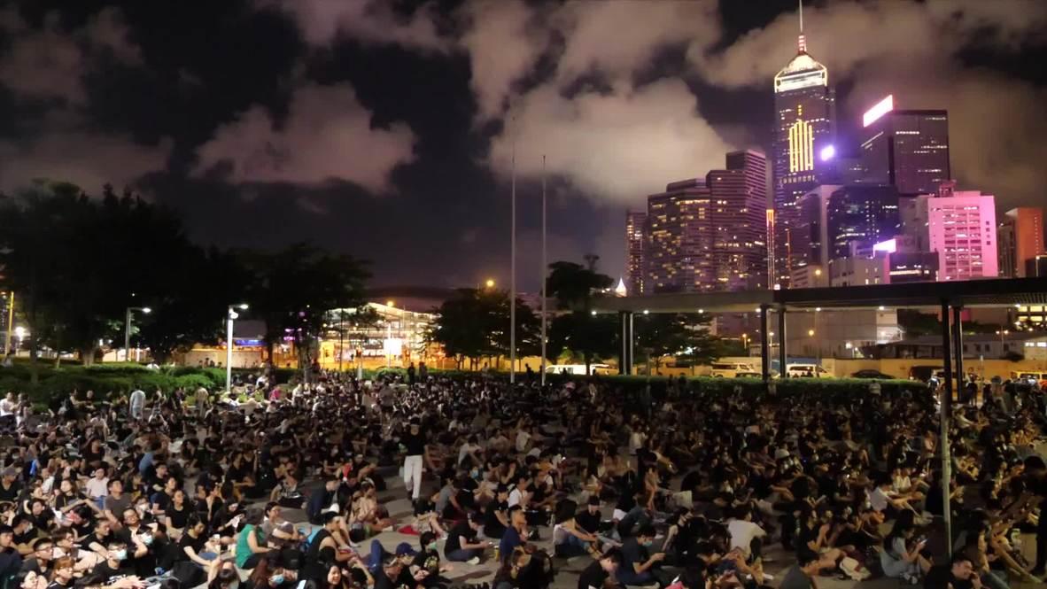 Hong Kong: Drone captures extradition bill protest outside Legislative Council