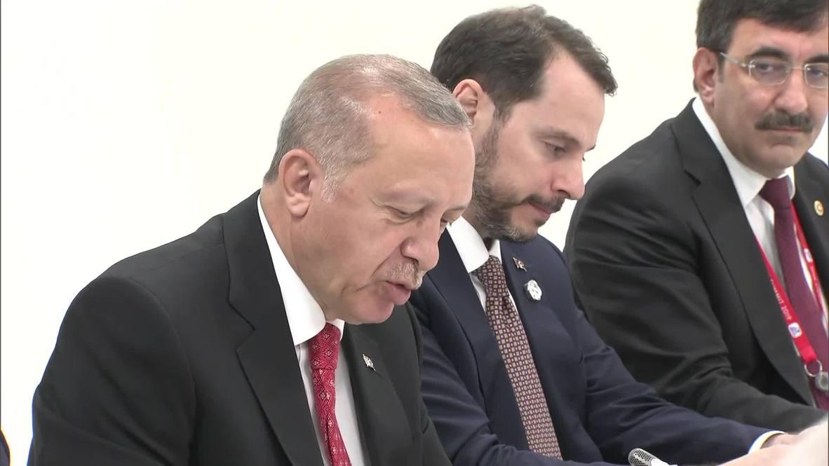 Japón: Putin y Erdogan se reúnen en el marco del G20