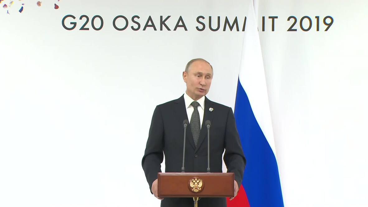 Japón: EE.UU. y Rusia tratarán el control de las armas nucleares - Putin tras la reunión con Trump