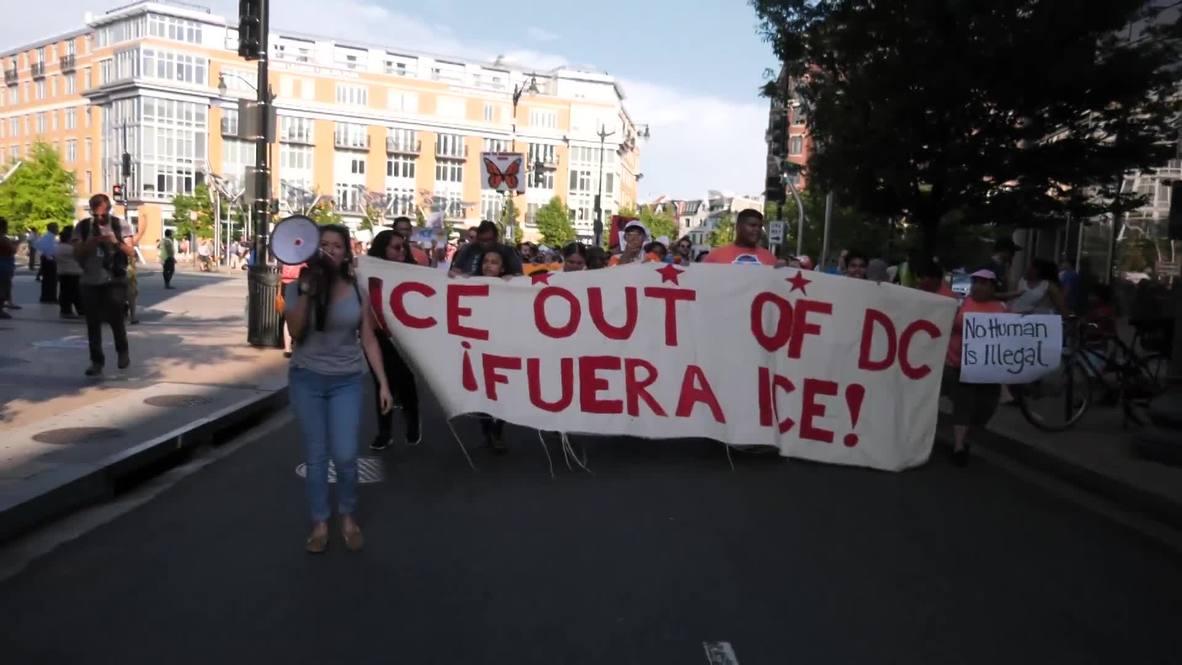 EE.UU.: Cientos de personas se manifiestan contra ICE en Washington D.C.